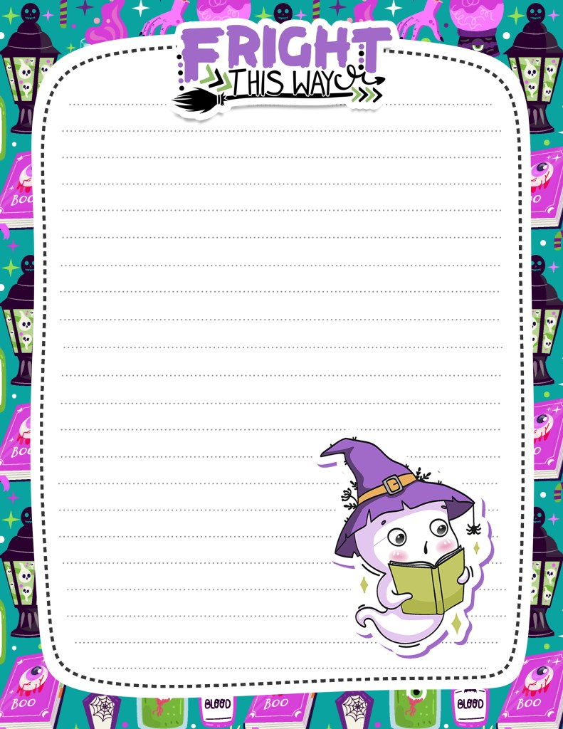 Free Printable Halloween Stationery Ghost