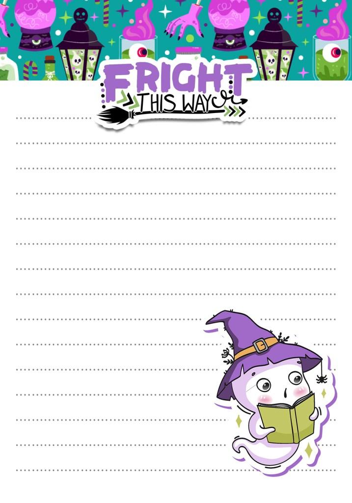 Halloween Notepad Paper Free Printable