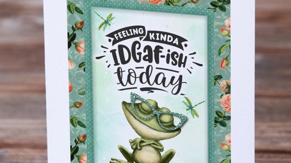 Printable funny frog card