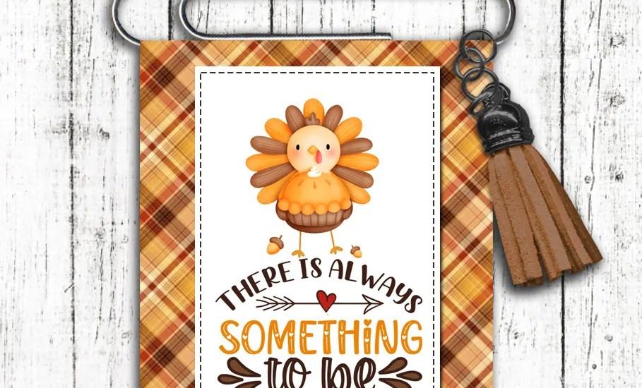 Turkey Bookmark Fall Autumn Thanksgiving Happy Mail