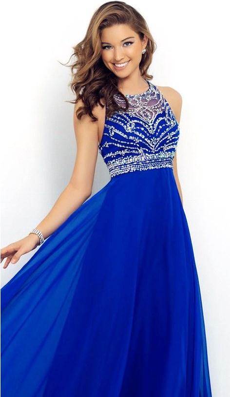 Sapphire Blue Spaghetti Strap Dress