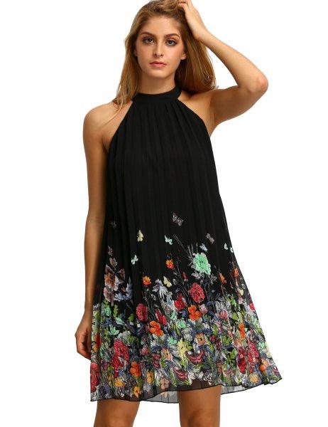 Summer Chiffon Sleeveless Party Dress