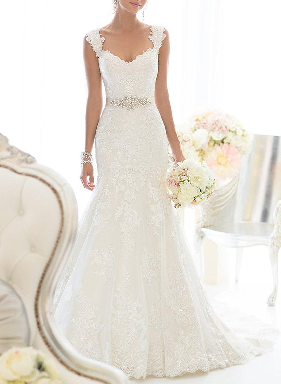 Elegant off shoulder crystal lace wedding dress cute dresses for Lace shoulder wedding dress