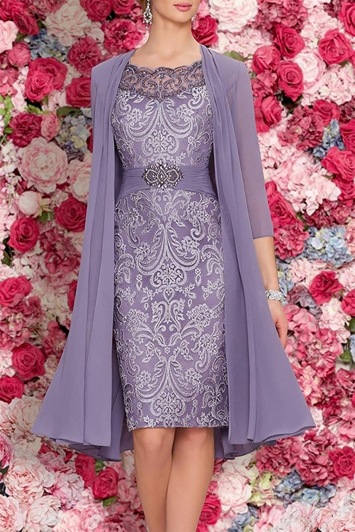 88d10a75072 Mother Of The Bride Dresses Tea Length Two Pieces With Jacket - Cute ...