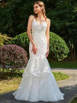 Backless Mermaid Lace Wedding Dress