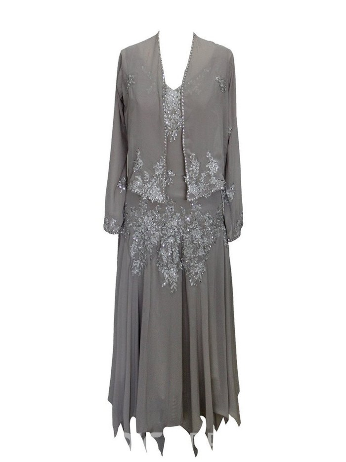 Beautiful Beaded High Low Mother Of The Bride Dress