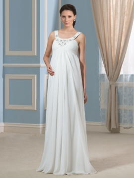 Beautiful Beading Straps Maternity Dress