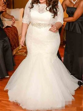 Beautiful Lace Mermaid Plus Size Wedding Dress