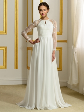 Beautiful Long A Line Wedding Dress