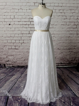 Beautiful Sweetheart A Line Lace Wedding Dress