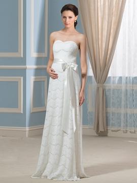 Beautiful Sweetheart Lace Maternity Wedding Dress