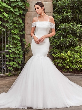 Charming Off The Shoulder Mermaid Wedding Dress