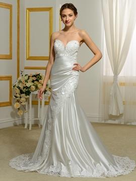 Charming Sweetheart Hollow Mermaid Wedding Dress