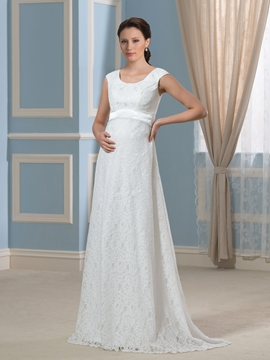 Comfortable Lace Maternity Wedding Dress
