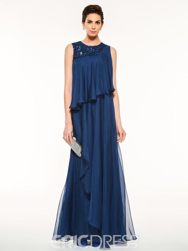 Fancy Jewel Appliques A Line Mother Of The Bride Dress