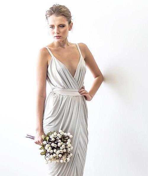 Ivory Tulip Wrap Maxi Dress 1033