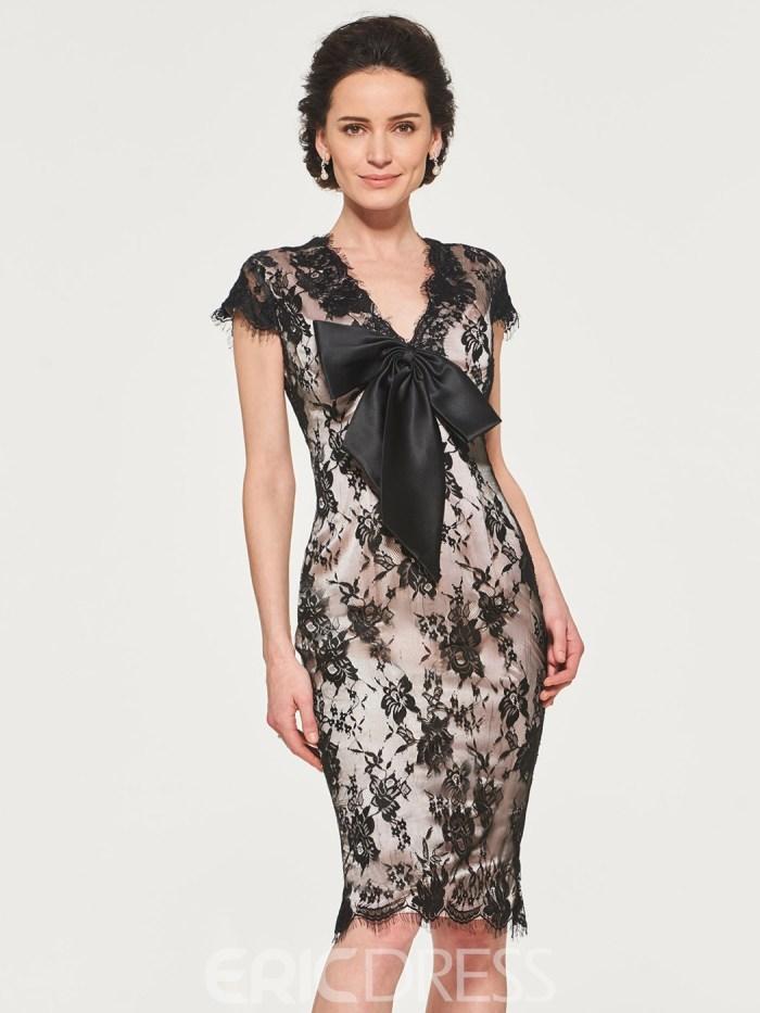 3ba6321f3fd Lace Sheath Knee Length Mother of the Bride Dress - Cute Dresses