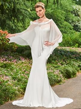 Off The Shoulder Mermaid Long Sleeves Wedding Dress