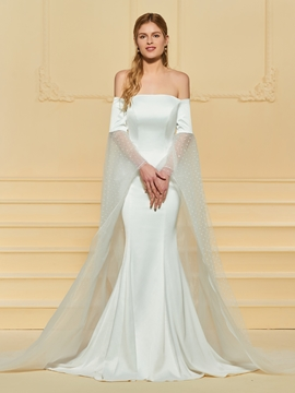 Off the Shoulder Mermaid Wedding Dress