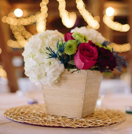 Pop of Color Reception Flowers