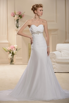 Pretty Sweetheart Sweeping A-Line Chiffon Wedding Dress