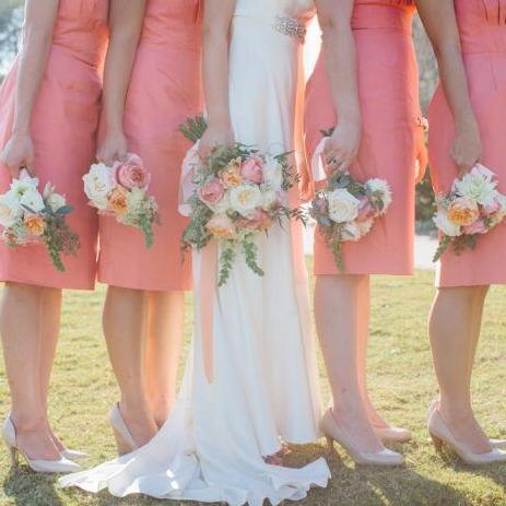 Romantic Peach and Coral Garden Wedding