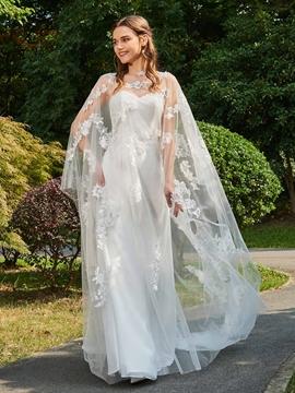 Sweetheart Sheath Tulle Wedding Dress
