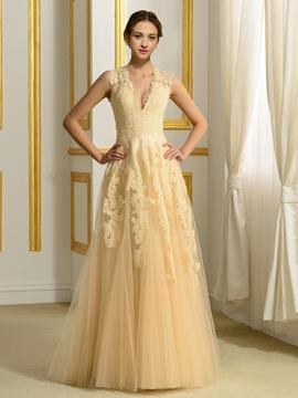 Unique A Line Wedding Dress
