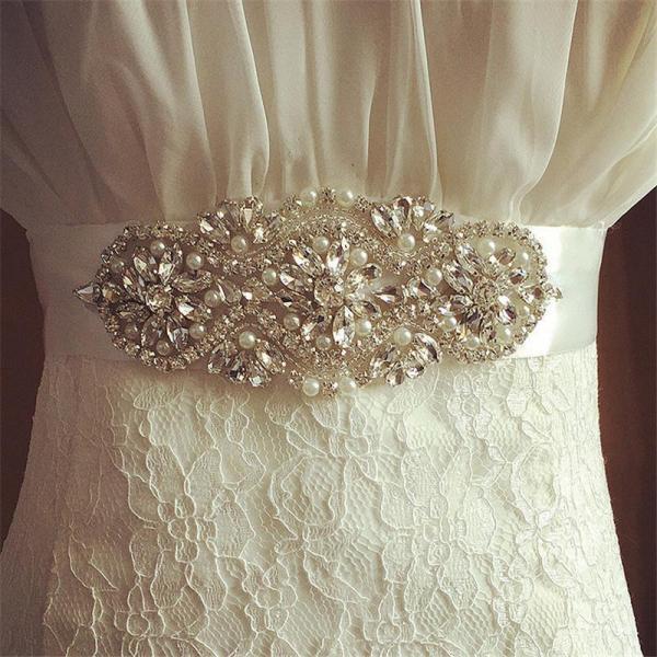 Wedding Accessories Crystal Beads Shinny Charming Bridal Belt Women Sashes