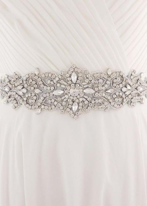 Wedding Belt Crystal 7 cm Wide Long Bridal Belts with Crystals Wedding Sash Crystal Pearls