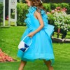 A-Line Organza Tea Length Flower Girl Dress