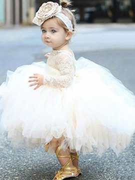 Adorable Lace Tulle Ball Gown Flower Girl Dress