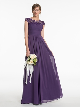 Beautiful A Line Chiffon Bridesmaid Dress