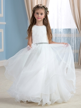 Beautiful Lace Flower Girl Dress
