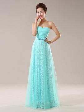 Beautiful Lace Long Bridesmaid Dress