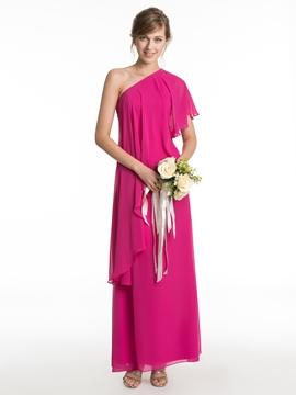 Beautiful One Shoulder A Line Bridesmaid Dress