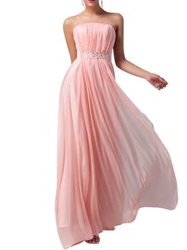 Beautiful Strapless Chiffon Bridesmaid Dress
