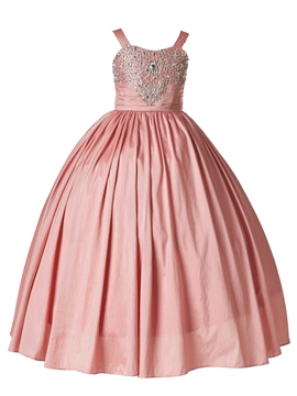 Beautiful Straps Beaded Ball Gown Wedding Dress