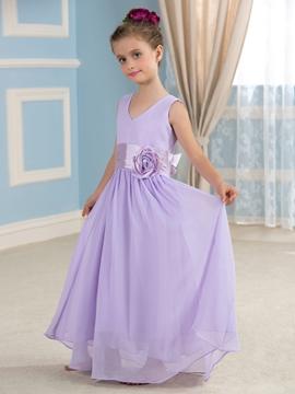 Casual Chiffon Flower Party Dress