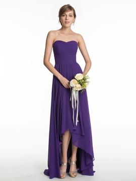 Casual Sweetheart High Low Bridesmaid Dress