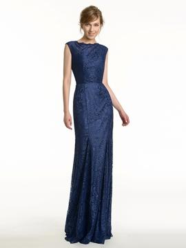 Charming Lace Backless Bridesmaid Dress