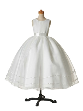 Classical Jewel Ball Gown Cheap Flower Girl Dress