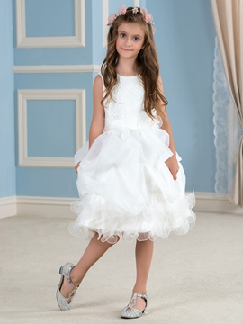 Cute Lace Flower Girl Dress