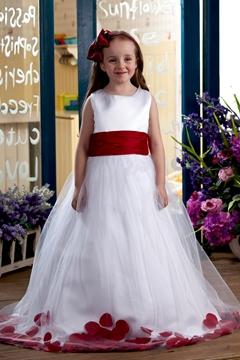 Elegant Ball Gown Ankle-length Bateau Appliques Flower Girl Dress