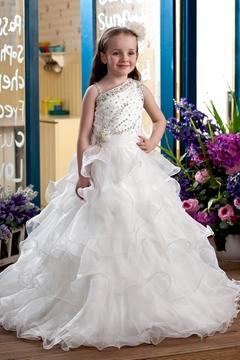 Elegant Ball Gown Floor-Length Flower Girl Dress