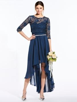 Elegant Sweetheart Beaded Asymmetry Bridesmaid Dress With Jacket