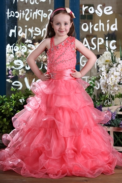 Fashion A-Line Straps Floor-length Flower Girl Dress