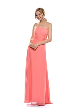 Fashionable Draped Sheath-Column Strapless Floor-length Bridesmaid Dress