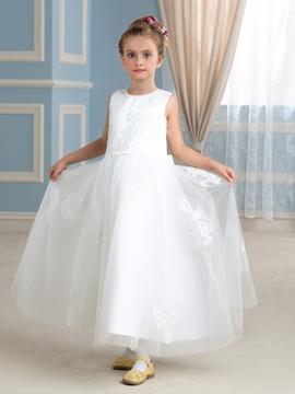 High Quality Jewel A Line Flower Girl Dress
