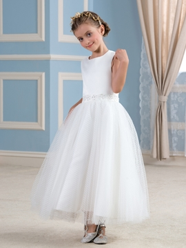 Simple A Line Flower Girl Dress